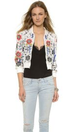 alice and olivia Jack Embellished Crop Jacket at Shopbop