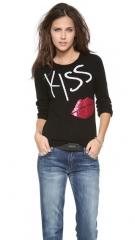alice and olivia Karsyn Kiss andamp Tell Sweater at Shopbop