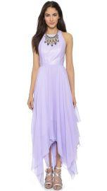 alice and olivia Mai Leather Handkerchief Maxi Dress at Shopbop