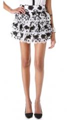 alice and olivia Margarita Tiered Skirt at Shopbop