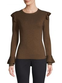 alice and olivia Mittie Pullover Ruffle Top at Saks Fifth Avenue