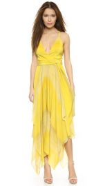 alice and olivia Tonia Spagetti Strap Handkercheif Dress at Shopbop