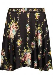 alice olivia Blaise floral-print crepe mini skirt at The Outnet
