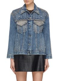 alice olivia EMBELLISHED DENIM JACKET at Lane crawford