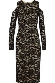 alice olivia Laila cold-shoulder lace dress at The Outnet