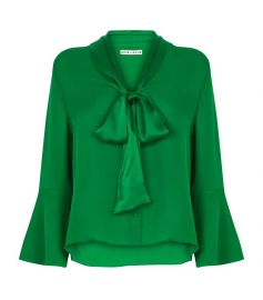 alice olivia Merideth Tie Neck Blouse at Harrods