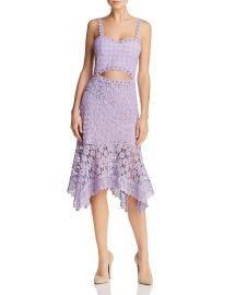 alice olivia Tamika Cutout Lace Midi Dress at Bloomingdales