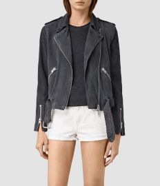 all saints Braided Wyatt Suede Jacket at All Saints