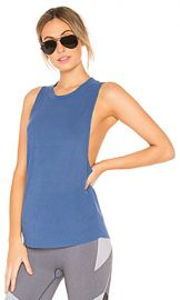 alo Heat Wave Tank in Cobalt from Revolve com at Revolve