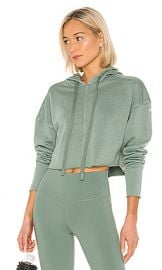 alo Washed Edge Hoodie in Moss from Revolve com at Revolve