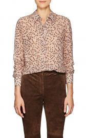 altuzarra Chika Floral Silk-Blend Chiffon Blouse at Barneys