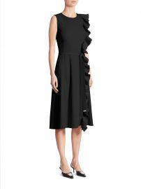 altuzarra Lavinia Belted Ruffle Dress at Saks Off 5th