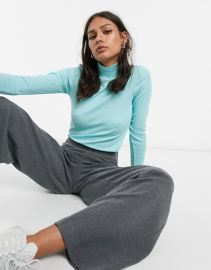 amp  Other Stories ribbed rollneck in turquoise   ASOS at Asos