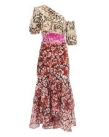 amur JAYLAH MIXED ANIMAL PRINT DRESS at Intermix