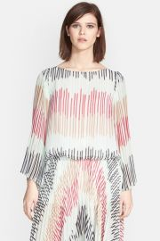 and039Briarand039 Multi Stripe Pleated Bell Sleeve Top at Nordstrom Rack