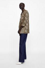 animal print blazer at Zara