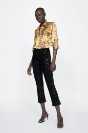 animal print blouse at Zara