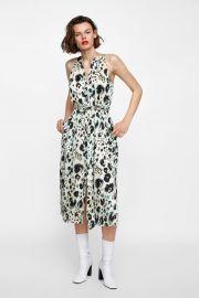 animal print halter dress at Zara