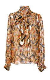anna sui ARABESQUE METALLIC JACQUARD TOP at Moda Operandi
