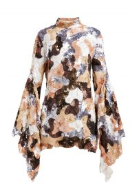 ashish Camouflage sequinned flared-sleeve mini dress at Matches