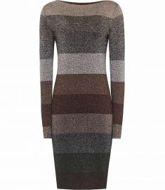 ashlyn STRIPED LUREX DRESS  at Reiss