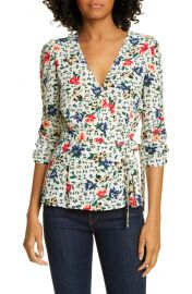 ba amp sh Paco Floral Wrap Top   Nordstrom at Nordstrom