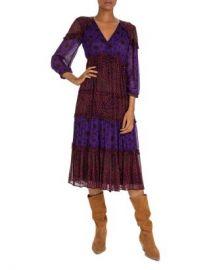 ba amp sh Gypsie Mixed-Print Midi Dress  Women - Bloomingdale s at Bloomingdales