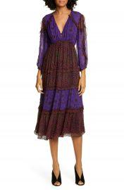 ba amp sh Gypsie Pattern Mix Midi Dress   Nordstrom at Nordstrom