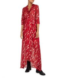 ba amp sh Hali Ruffled Metallic Maxi Dress Women - Bloomingdale s at Bloomingdales