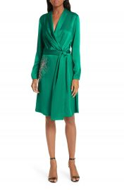 ba amp sh Janeiro Satin Wrap Dress at Nordstrom
