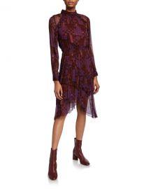 ba amp sh Macha High-Neck Asymmetrical Dress at Neiman Marcus