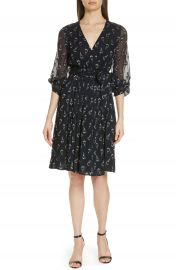 ba amp sh Memory Floral Silk Chiffon Dress at Nordstrom