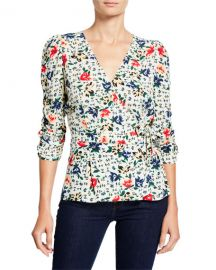 ba amp sh Paco Floral Cross-Front Top at Neiman Marcus