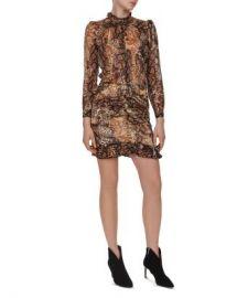 ba amp sh Rackel Puff-Sleeve Animal-Print Dress Women - Bloomingdale s at Bloomingdales