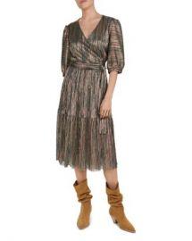 ba amp sh Star Metallic Wrap Dress Women - Bloomingdale s at Bloomingdales