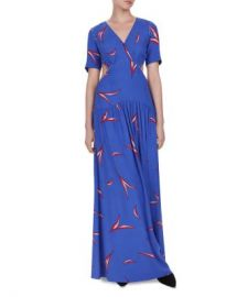 ba amp sh Tiana Cutout Leaf Print Maxi Dress Women - Bloomingdale s at Bloomingdales