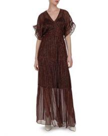 ba amp sh Wanda Metallic Herringbone Print Maxi Dress Women - Bloomingdale s at Bloomingdales