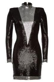 balmain SEQUIN MINI DRESS at Stylebop
