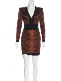 balmain patterned dress at The Real Real
