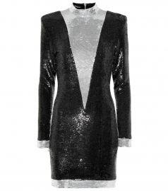 balmain sequin mini dress at My Theresa