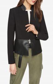 barrett Faux-Leather Peplum Jacket bcbg at Bcbg