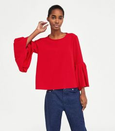 bell sleeve top at Zara