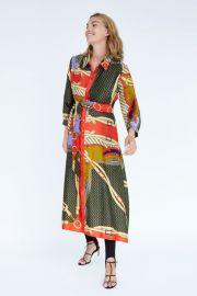 belt print tunic at Zara