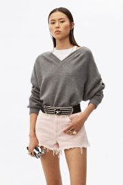 bi-layer v-neck sweater at Alexander Wang