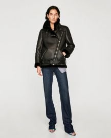 biker jacket at Zara
