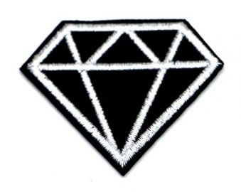 black and White Diamond Patch, Embroidered Diamond Biker Applique Patch at Amazon