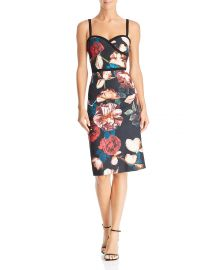 black halo Daria Floral Dress at Bloomingdales