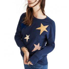 blue star print sweatshirt  at Madewell
