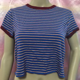 blue striped ringer tee by Forever 21 at Forever 21
