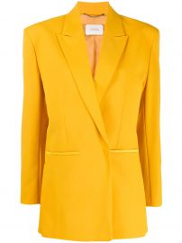 boxy fit structured shoulder blazer at Farfetch